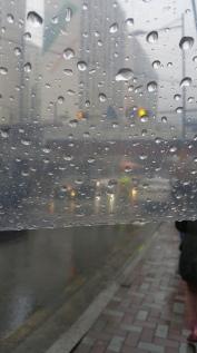 Traffic during rain